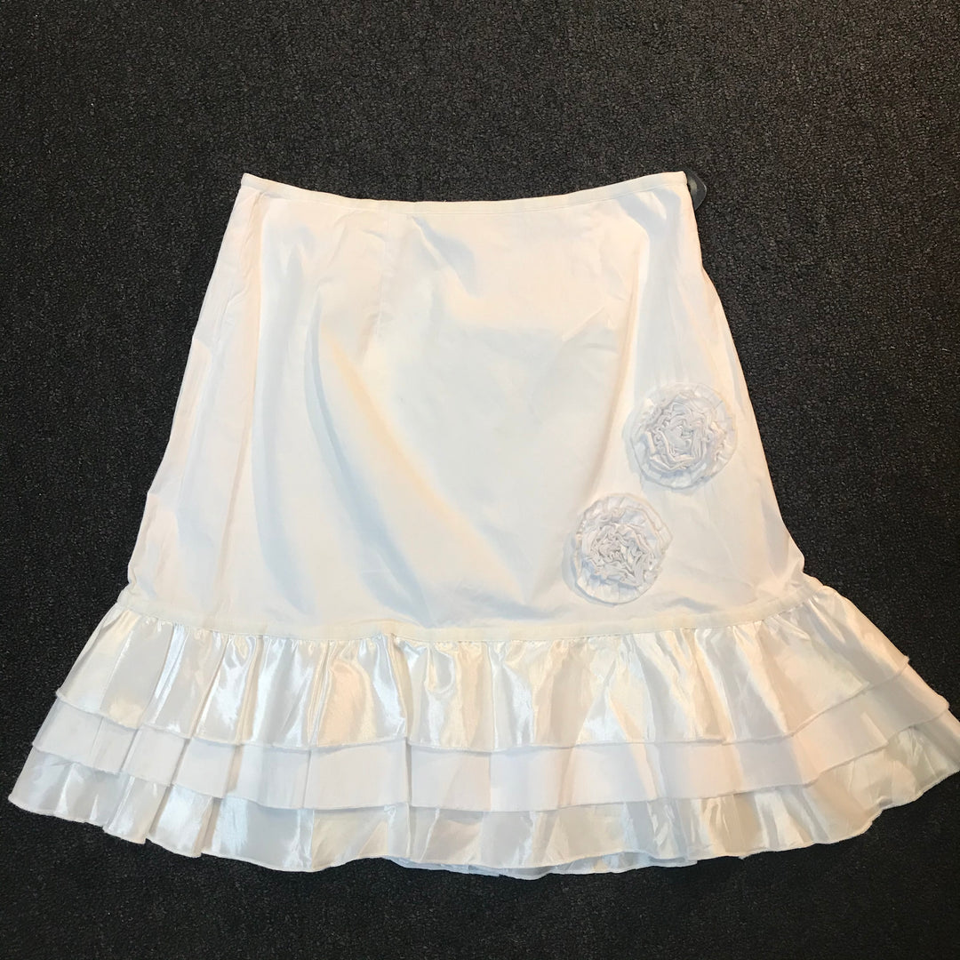 Primary Photo - BRAND:  BOO RADLEY <BR>STYLE: SKIRT<BR>COLOR: WHITE<BR>SIZE: 10<BR>SKU: 239-23911-57207