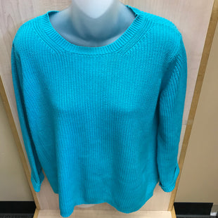 Primary Photo - BRAND: 525 AMERICA STYLE: SWEATER LIGHTWEIGHT COLOR: TURQUOISE SIZE: S SKU: 239-23918-38118COTTON