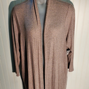 Primary Photo - BRAND: LISA RINNA STYLE: SWEATER CARDIGAN HEAVYWEIGHT COLOR: PINKGRAY SIZE: 2X SKU: 239-23911-71300