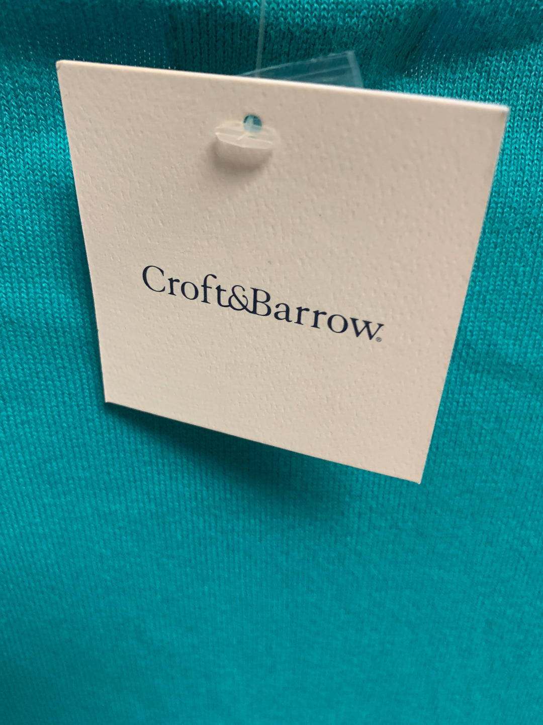 Photo #2 - BRAND: CROFT AND BARROW <BR>STYLE: SWEATER CARDIGAN LIGHTWEIGHT <BR>COLOR: TEAL <BR>SIZE: 3X <BR>OTHER INFO: NEW! SHORT SLEEVE <BR>SKU: 239-23911-71479