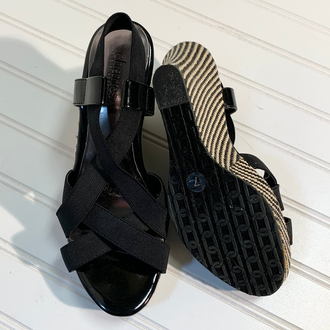 Photo #1 - BRAND: CHARLES BY CHARLES DAVID <BR>STYLE: SANDALS HIGH <BR>COLOR: BLACK <BR>SIZE: 7 <BR>SKU: 239-23911-71706