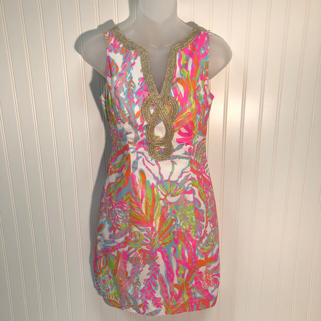 Primary Photo - BRAND: LILLY PULITZER <BR>STYLE: DRESS SHORT SLEEVELESS <BR>COLOR: MULTI <BR>SIZE: 00<BR>SKU: 239-23911-68497
