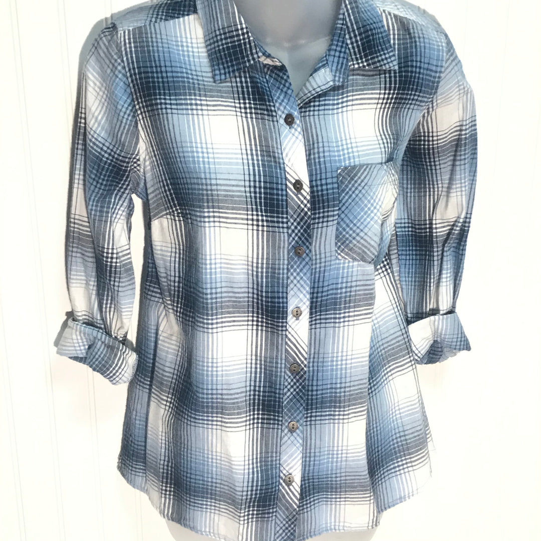 Primary Photo - BRAND: SONOMA <BR>STYLE: TOP LONG SLEEVE <BR>COLOR: PLAID <BR>SIZE: PETITE   SMALL <BR>SKU: 239-23918-36239