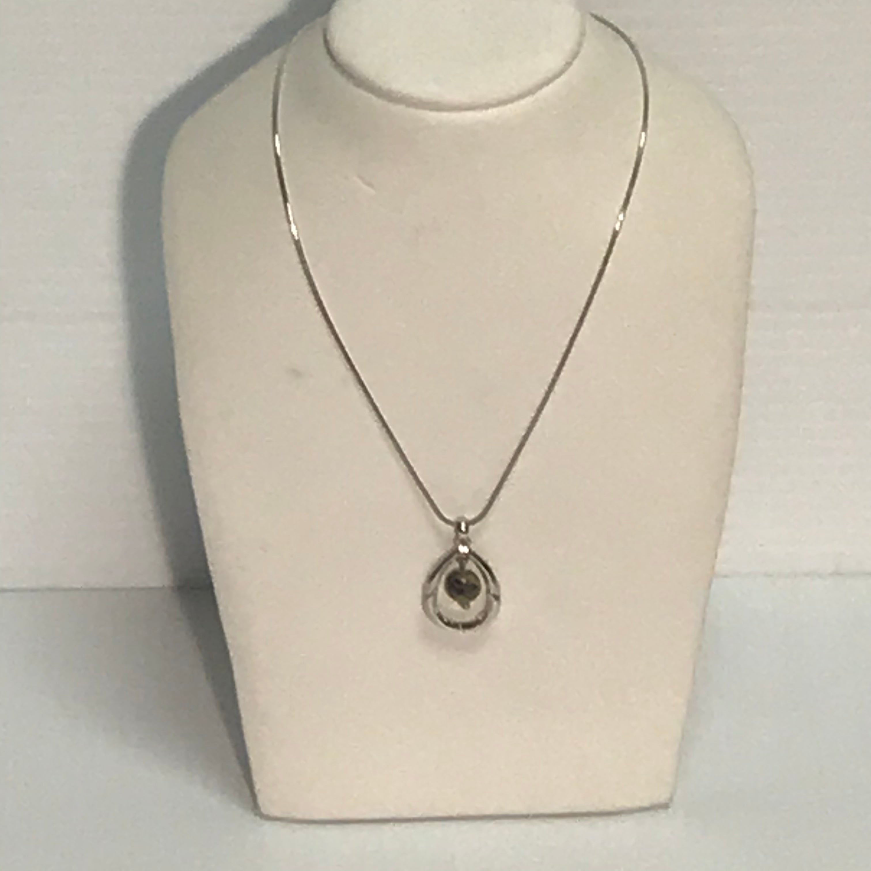 Primary Photo - BRAND: LIA SOPHIA JEWELRY<BR>STYLE: NECKLACE<BR>COLOR: SILVER  AND TAUPE <BR>SKU: 239-23911-66122