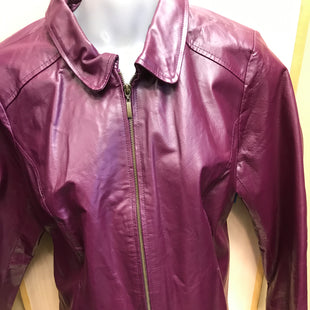 Primary Photo - BRAND: JESSICA LONDON STYLE: JACKET LEATHER COLOR: MAROON SIZE: 16 SKU: 239-23918-36037
