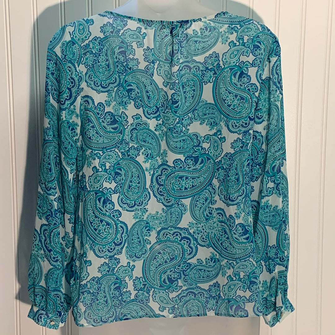 Photo #1 - BRAND: ANN TAYLOR <BR>STYLE: TOP LONG SLEEVE <BR>COLOR: PAISLEY <BR>SIZE: XS <BR>OTHER INFO: PETITE <BR>SKU: 239-23911-72462