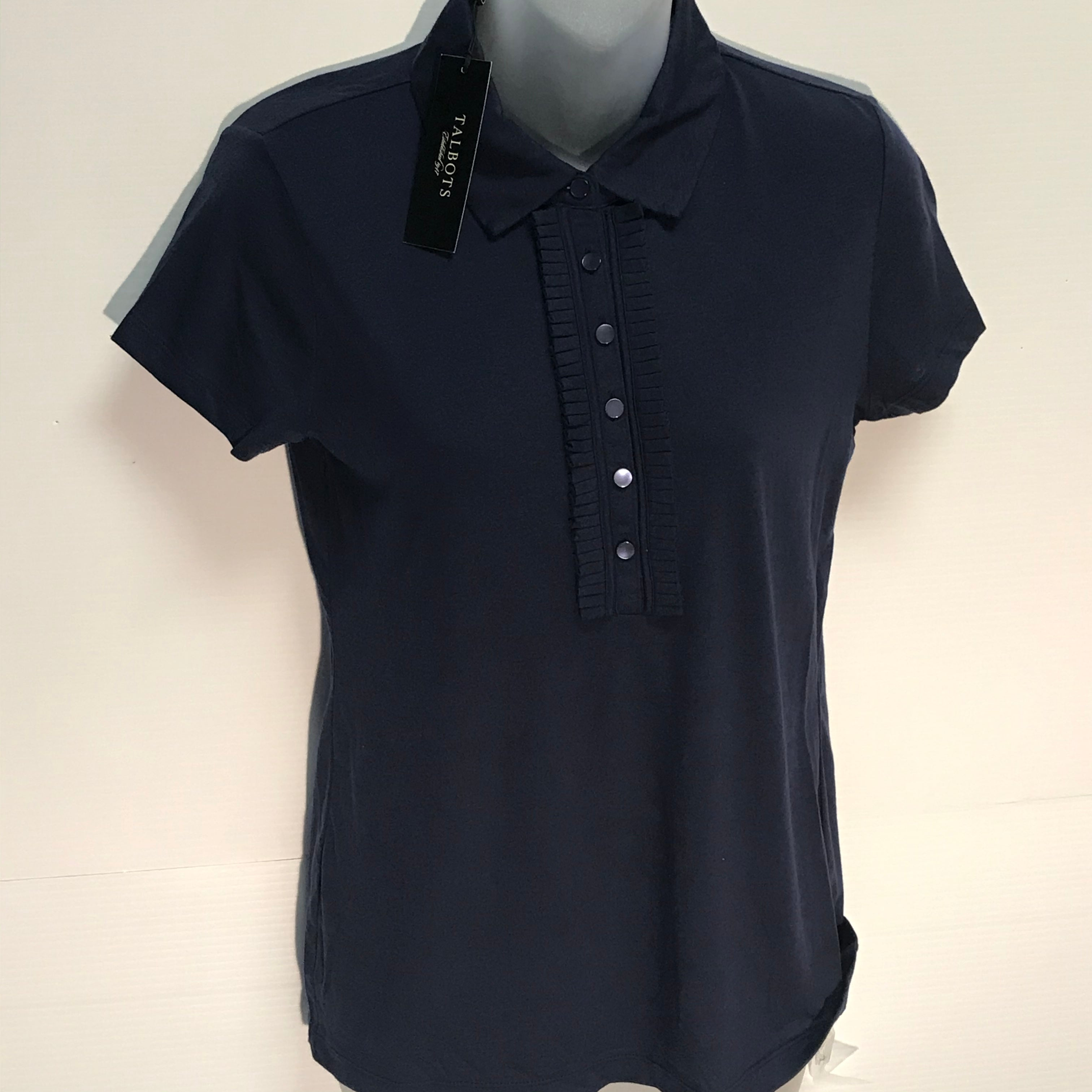 Primary Photo - BRAND: TALBOTS<BR>STYLE: TOP SHORT SLEEVE<BR>COLOR: NAVY<BR>SIZE: S<BR>OTHER INFO: NEW!<BR>SKU: 239-23911-66764