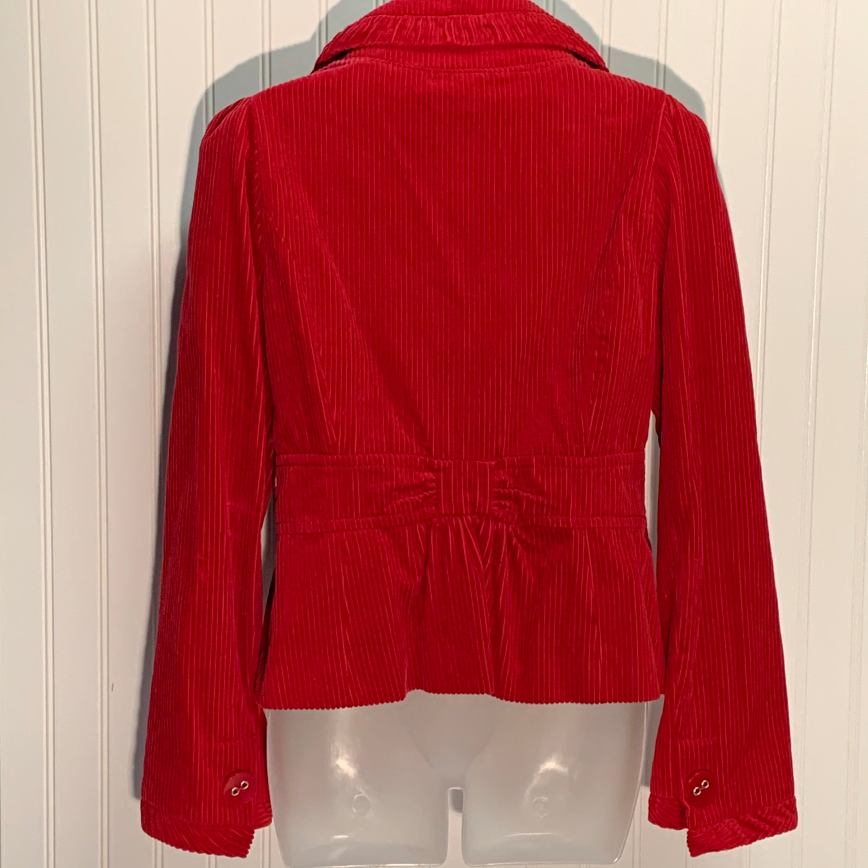 Photo #1 - BRAND: ELEVENSES <BR>STYLE: BLAZER JACKET <BR>COLOR: RED <BR>SIZE: 8 <BR>OTHER INFO: ANTHROPOLOGIE <BR>SKU: 239-23911-70969