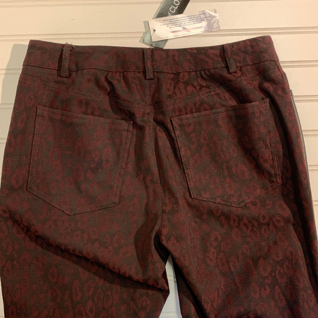 Photo #1 - BRAND:   PEACE OF THE CLOTH<BR>STYLE: PANTS <BR>COLOR: ANIMAL PRINT <BR>SIZE: 2 <BR>OTHER INFO:  MAROON <BR>SKU: 239-23918-34722