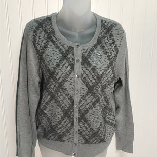 Primary Photo - BRAND: CHARTER CLUB STYLE: SWEATER CARDIGAN LIGHTWEIGHT COLOR: GREY & SPARKLES SIZE: M SKU: 239-23911-70792