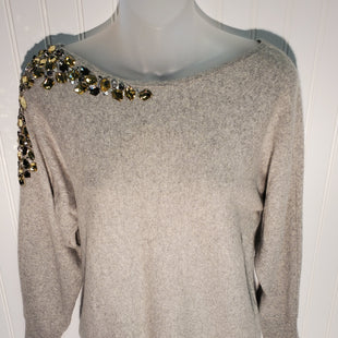 Primary Photo - BRAND: MAGASCHONI STYLE: SWEATER CASHMERE COLOR: GREY SIZE: S OTHER INFO:  JEWLED CASHMERE SWEATER - SKU: 239-23918-36644