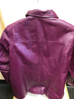 Photo #1 - BRAND: JESSICA LONDON <BR>STYLE: JACKET LEATHER <BR>COLOR: MAROON <BR>SIZE: 16 <BR>SKU: 239-23918-36037