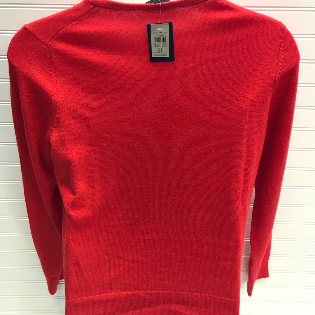 Photo #1 - BRAND: ANN TAYLOR <BR>STYLE: SWEATER CASHMERE <BR>COLOR: ORANGE <BR>SIZE: XL <BR>SKU: 239-23918-38126