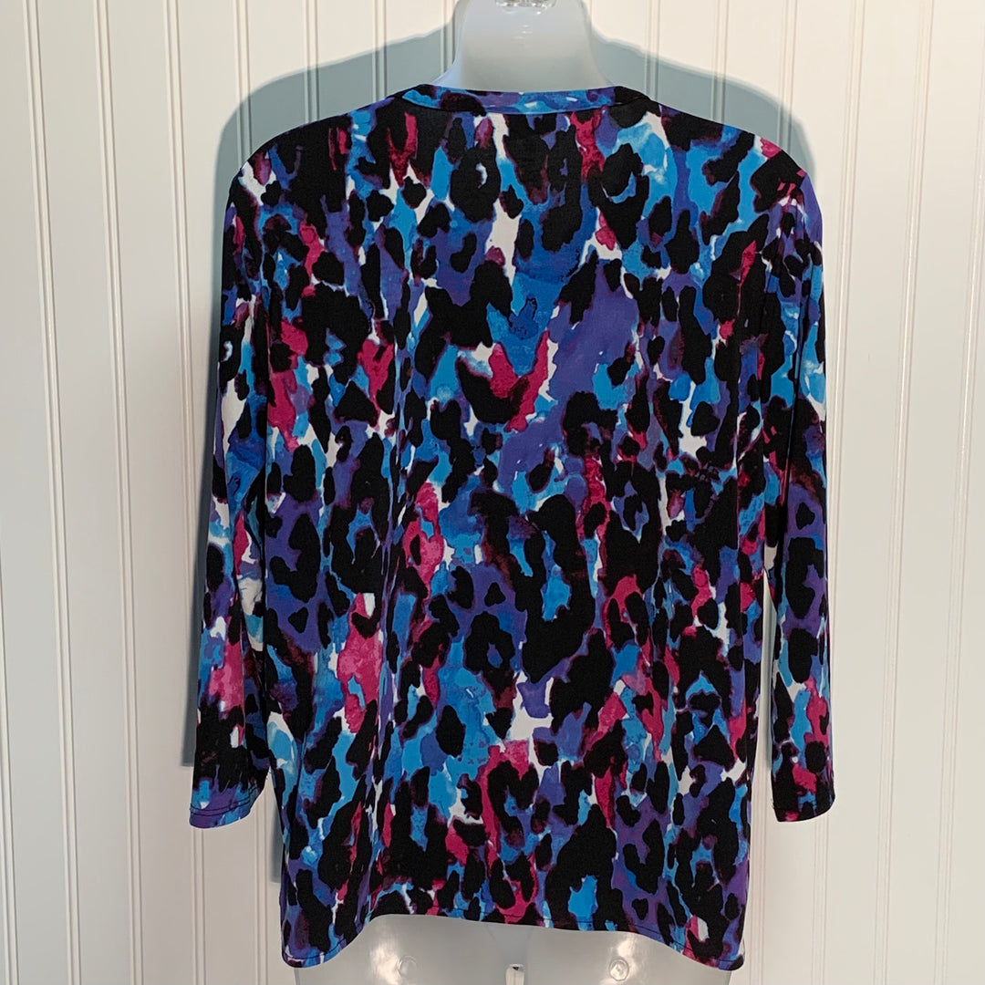 Photo #1 - BRAND: DANA BUCHMAN <BR>STYLE: TOP LONG SLEEVE <BR>COLOR: MULTI <BR>SIZE: L <BR>OTHER INFO: TIE FRONT <BR>SKU: 239-23918-36652