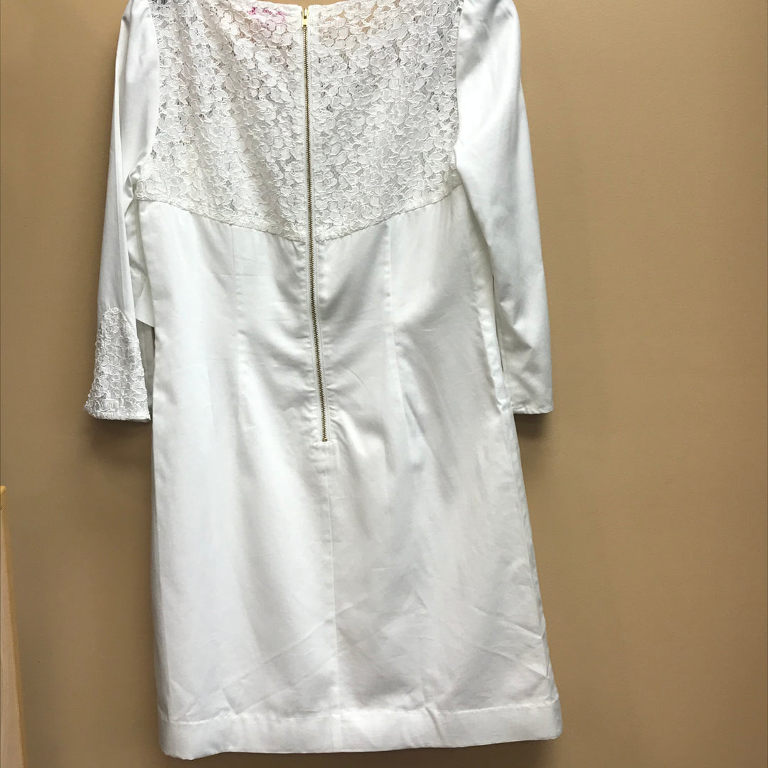 Photo #1 - BRAND: LILLY PULITZER <BR>STYLE: DRESS SHORT LONG SLEEVE <BR>COLOR: WHITE <BR>SIZE: 6 <BR>SKU: 239-23918-35148