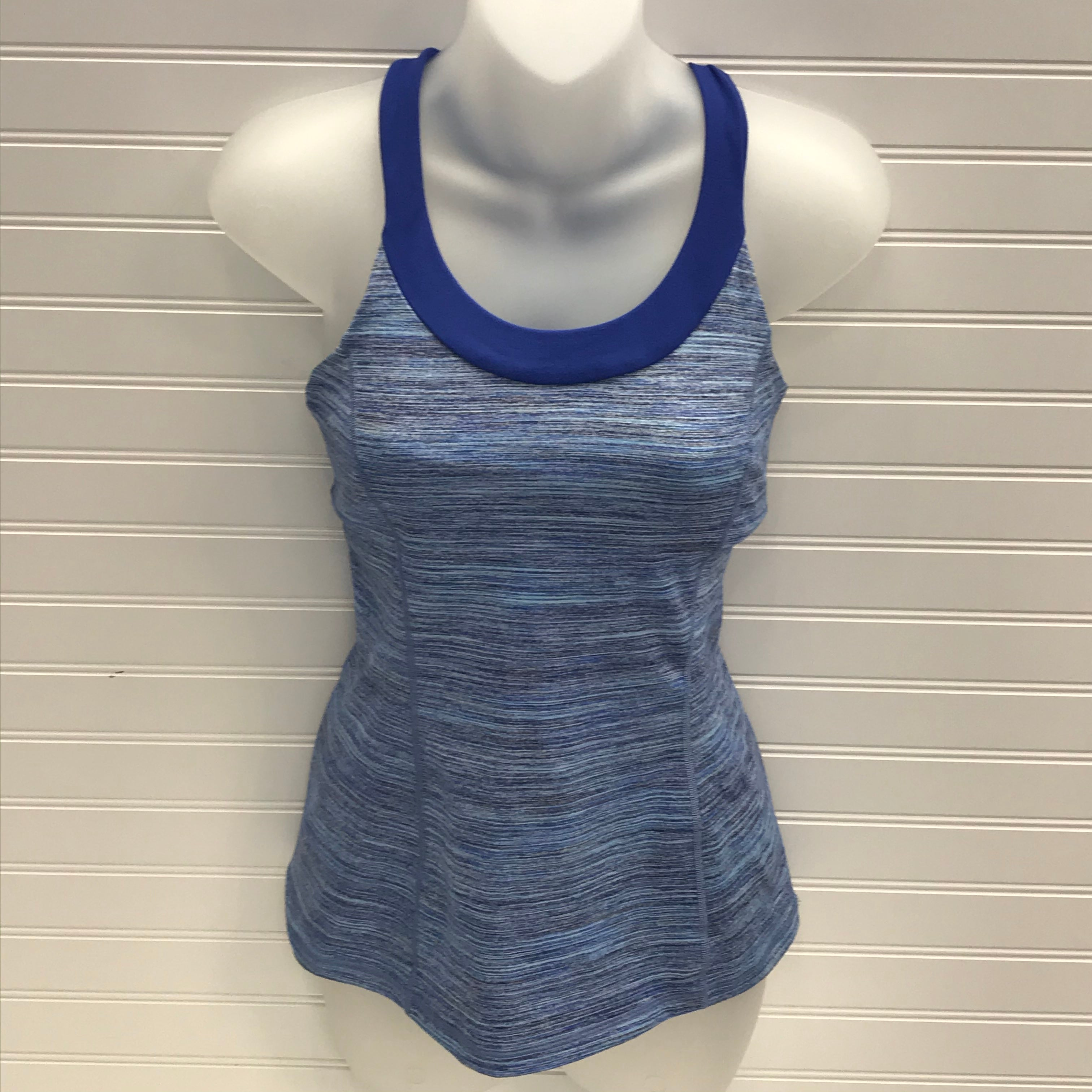 Primary Photo - BRAND: LULULEMON <BR>STYLE: ATHLETIC TANK TOP <BR>COLOR: BLUE WHITE <BR>SKU: 239-23918-38641