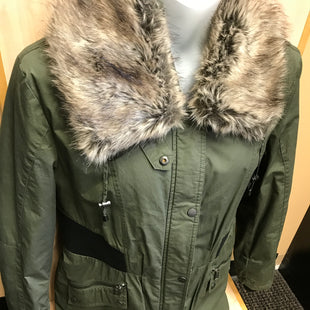 Primary Photo - BRAND: DKNY STYLE: COAT SHORT COLOR: OLIVE SIZE: L SKU: 239-23918-36489REMOVABLE COLLAR. ZIPS AND SNAPS.