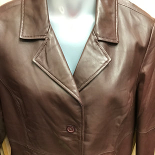 Primary Photo - BRAND:   EXCELLEDSTYLE: JACKET LEATHER COLOR: CHOCOLATE SIZE: XL SKU: 239-23911-63728