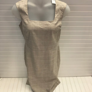 Primary Photo - BRAND: ANN TAYLOR STYLE: DRESS SHORT SLEEVELESS COLOR: BEIGE SIZE: 12 OTHER INFO: NEW! LINEN SKU: 239-23911-73568
