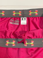 Photo #2 - BRAND: UNDER ARMOUR <BR>STYLE: ATHLETIC SHORTS <BR>COLOR: PINK <BR>SIZE: XL <BR>SKU: 239-23918-36963