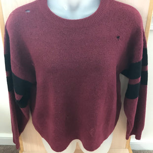 Primary Photo - BRAND: CURRENT ELLIOTT STYLE: SWEATER LIGHTWEIGHT COLOR: MAROON SIZE: L SKU: 239-23918-37674DISTRESSED