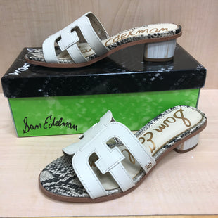 Primary Photo - BRAND: SAM EDELMAN STYLE: SANDALS LOW COLOR: IVORY SIZE: 6 SKU: 239-23911-72531NEW WITH PACKAGING AND BOX