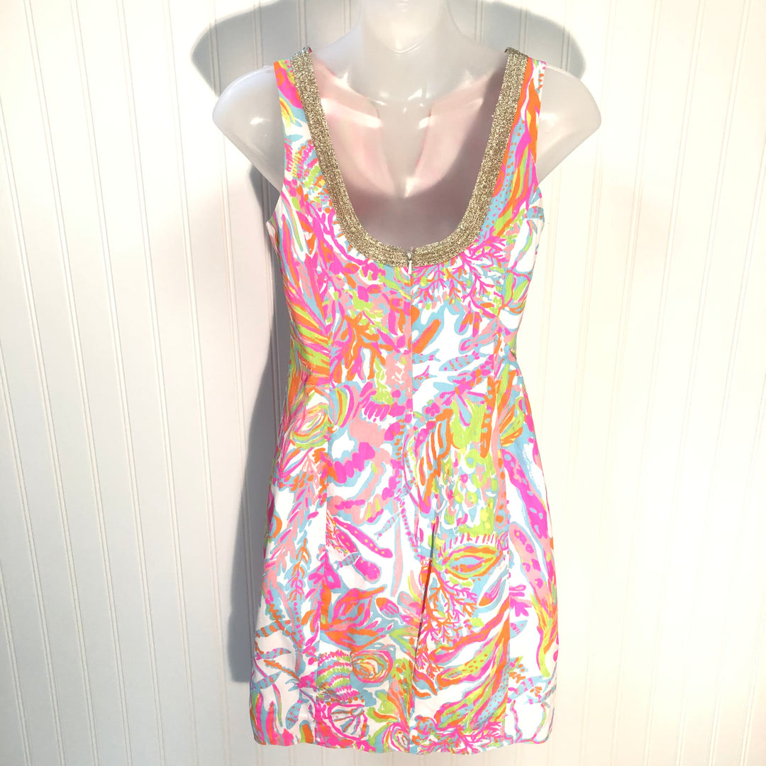 Photo #1 - BRAND: LILLY PULITZER <BR>STYLE: DRESS SHORT SLEEVELESS <BR>COLOR: MULTI <BR>SIZE: 00<BR>SKU: 239-23911-68497