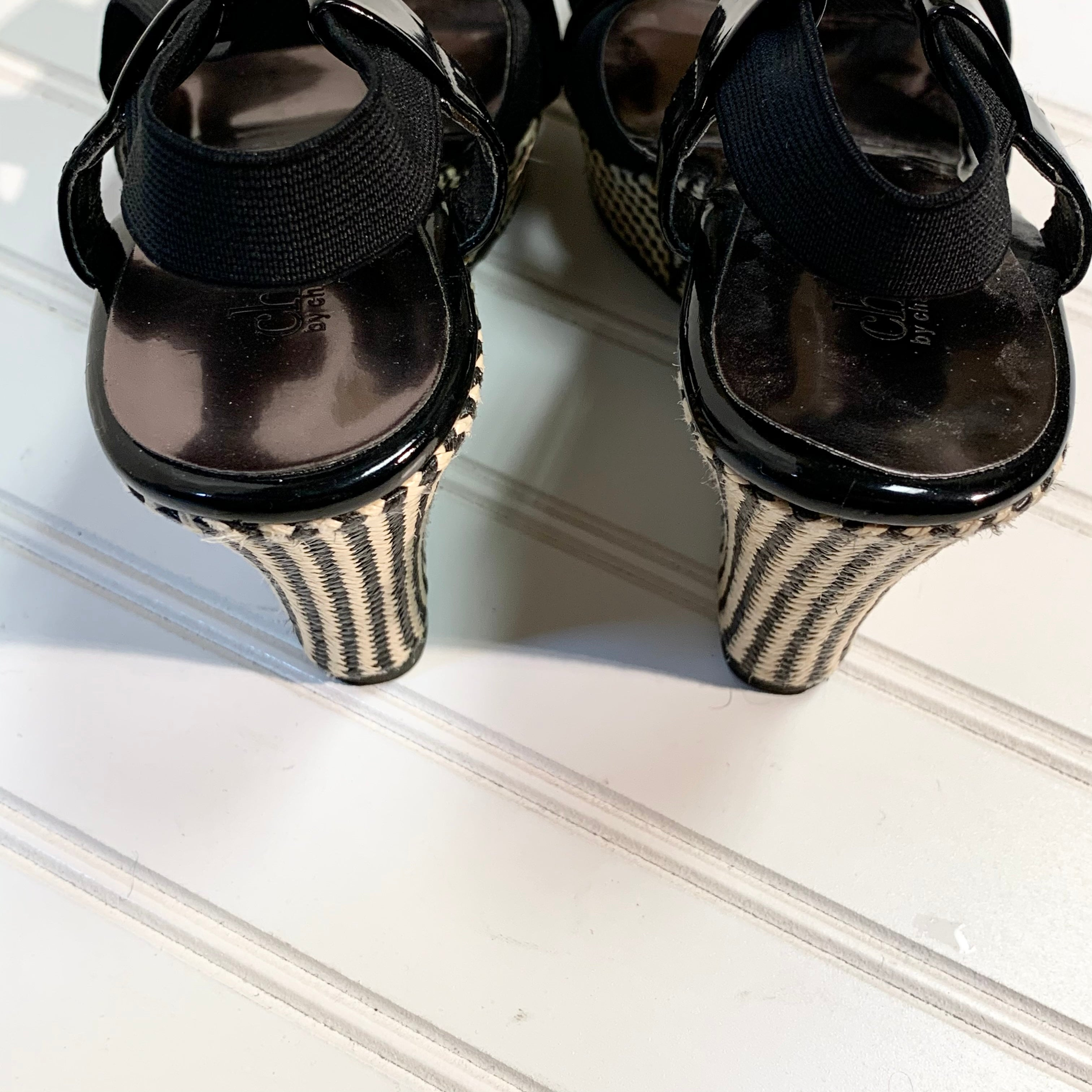 Photo #2 - BRAND: CHARLES BY CHARLES DAVID <BR>STYLE: SANDALS HIGH <BR>COLOR: BLACK <BR>SIZE: 7 <BR>SKU: 239-23911-71706