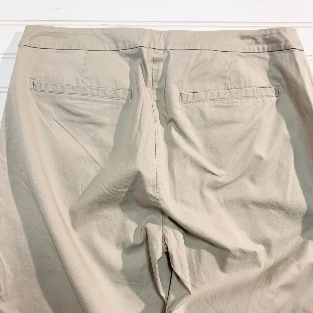 Photo #1 - BRAND: EILEEN FISHER <BR>STYLE: PANTS <BR>COLOR: KHAKI <BR>SIZE: 8 <BR>OTHER INFO: NEW! COTTON TENCEL <BR>SKU: 239-23911-71753