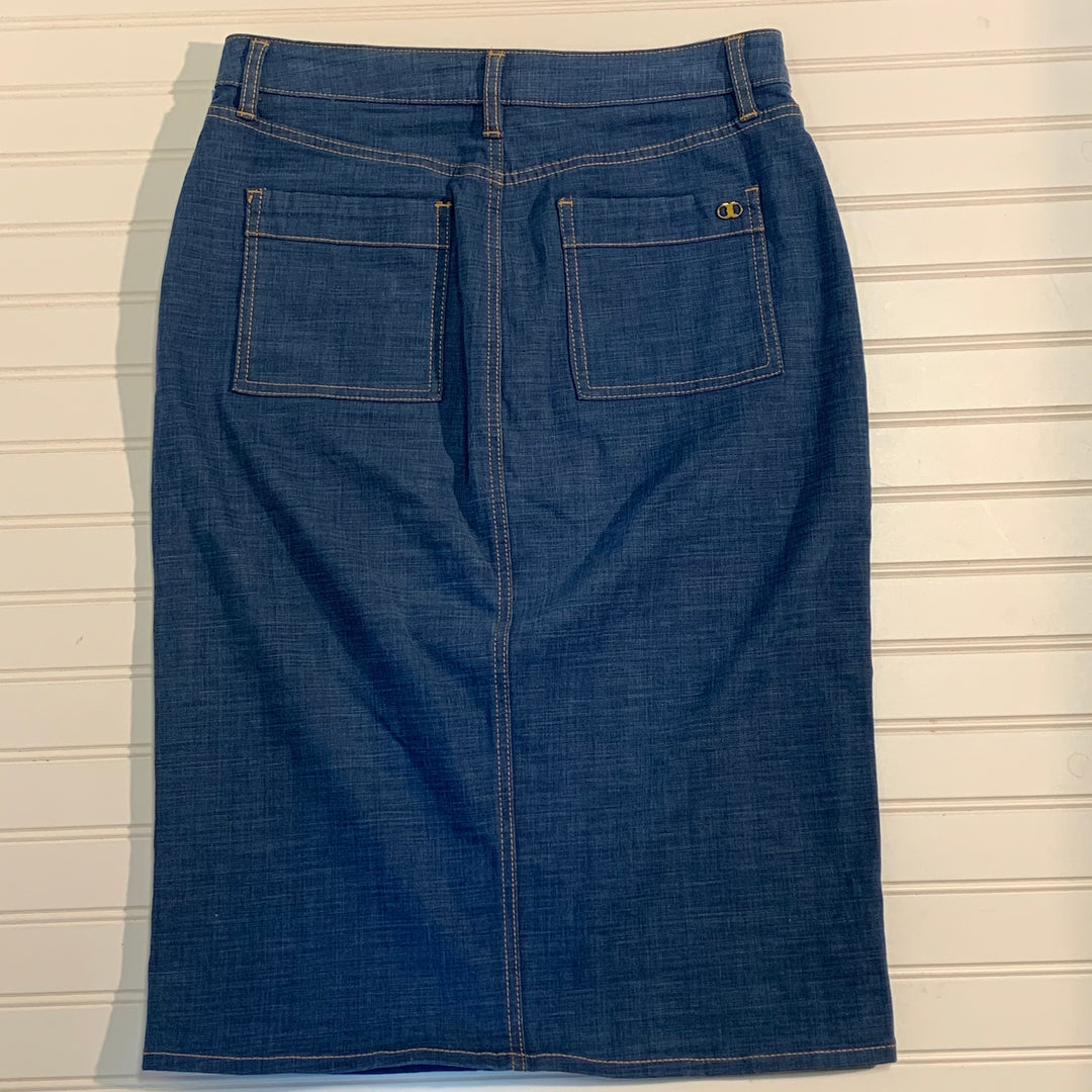 Photo #2 - BRAND: TORY BURCH <BR>STYLE: SKIRT <BR>COLOR: DENIM <BR>SIZE: 6 <BR>SKU: 239-23918-36548