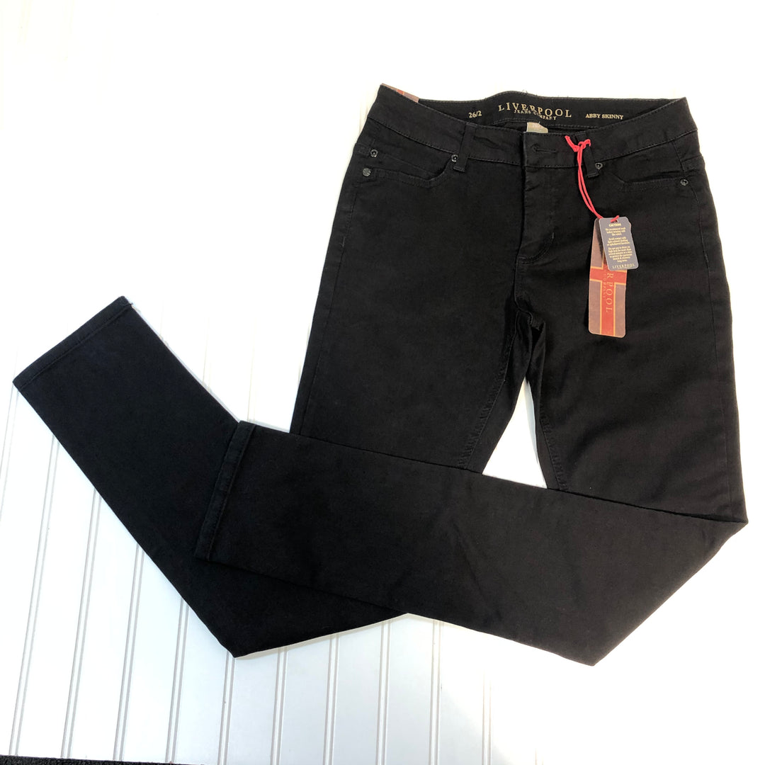 Primary Photo - BRAND: LIVERPOOL <BR>STYLE: PANTS <BR>COLOR: BLACK <BR>SIZE: 2 <BR>OTHER INFO: SIZE 26 NEW! <BR>SKU: 239-23911-67568