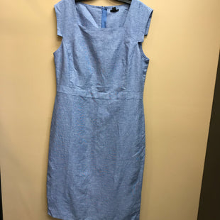 Primary Photo - BRAND: ANN TAYLOR STYLE: DRESS SHORT SLEEVELESS COLOR: BLUE SIZE: 12TALL OTHER INFO: NEW! LINEN SKU: 239-23911-73569