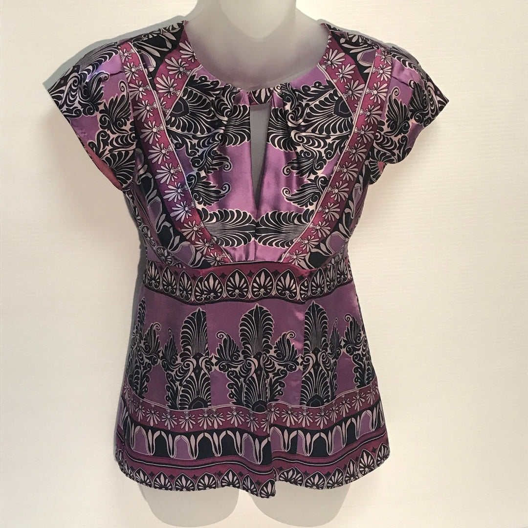 Primary Photo - BRAND: NANETTE LEPORE<BR>STYLE: TOP SHORT SLEEVE<BR>COLOR: PURPLE<BR>SIZE: 0<BR>SKU: 239-23918-27365