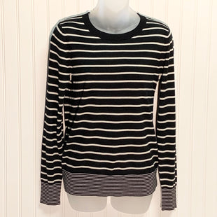 Primary Photo - BRAND: BANANA REPUBLIC STYLE: SWEATER LIGHTWEIGHT COLOR: BLACK WHITE SIZE: S OTHER INFO: SILK CASHMERE  NEW! SKU: 239-23911-72187