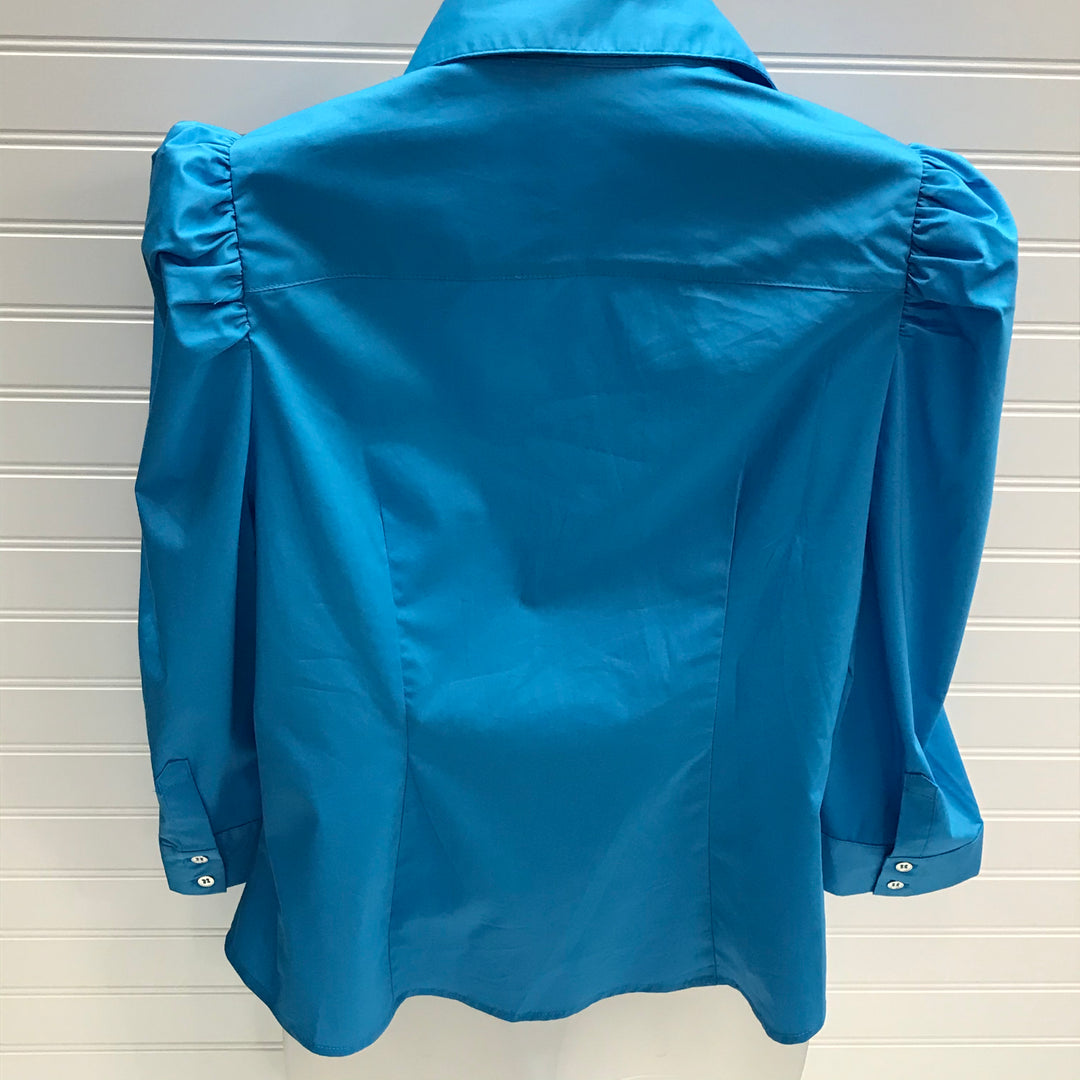 Photo #1 - BRAND: NEW YORK AND CO <BR>STYLE: TOP LONG SLEEVE <BR>COLOR: TURQUOISE <BR>SIZE: M <BR>SKU: 239-23911-73070