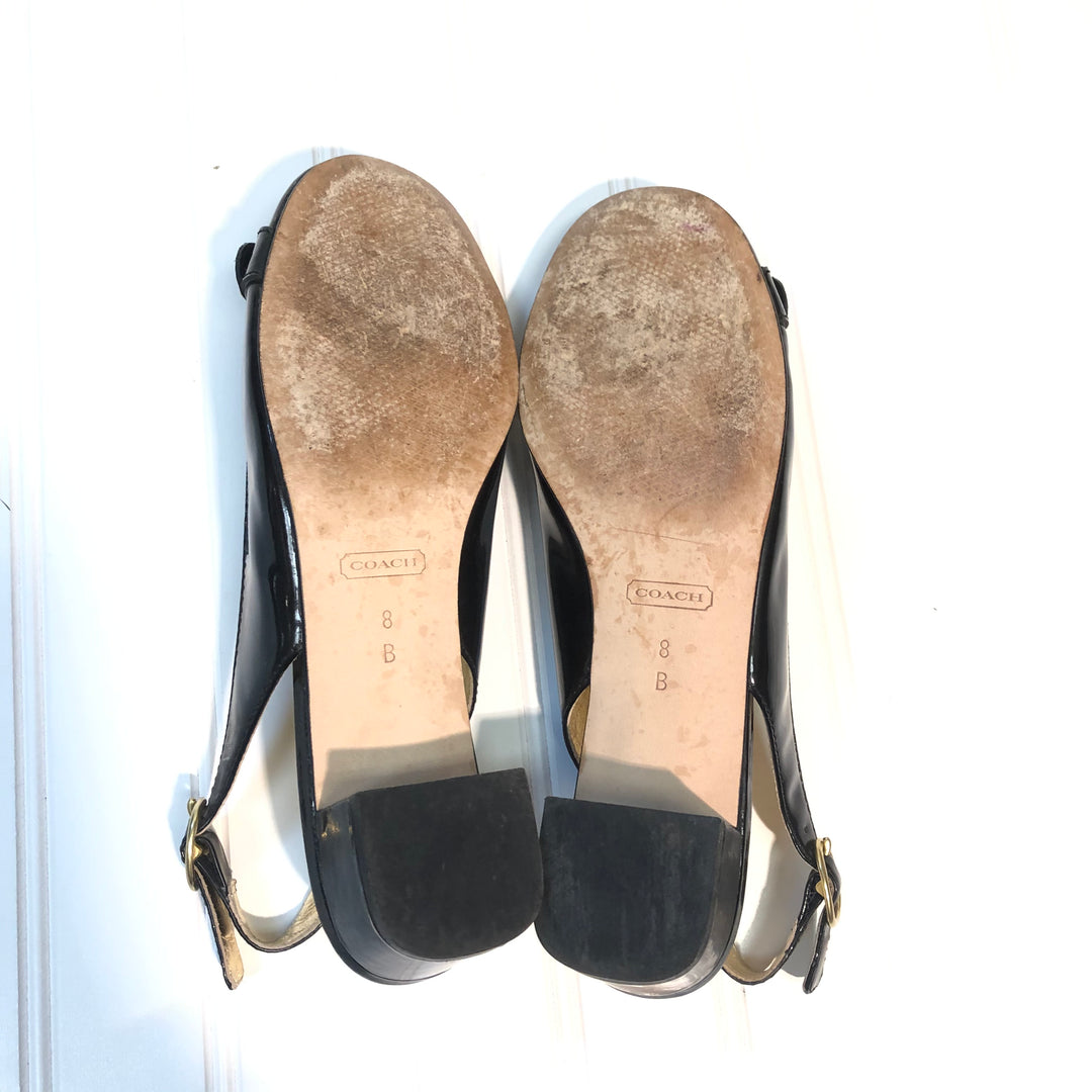 Photo #2 - BRAND: COACH <BR>STYLE: SHOES LOW HEEL <BR>COLOR: BLACK <BR>SIZE: 8 <BR>SKU: 239-23918-33998