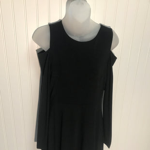Primary Photo - BRAND: ANN TAYLOR LOFT STYLE: DRESS SHORT LONG SLEEVE COLOR: BLACK SIZE: XXS SKU: 239-23918-32228COLD SHOULDER