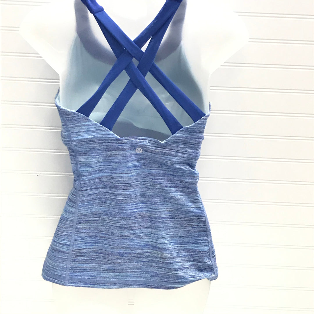 Photo #1 - BRAND: LULULEMON <BR>STYLE: ATHLETIC TANK TOP <BR>COLOR: BLUE WHITE <BR>SKU: 239-23918-38641