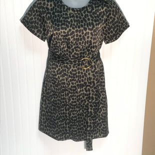 Primary Photo - BRAND: BANANA REPUBLIC STYLE: DRESS SHORT SHORT SLEEVE COLOR: ANIMAL PRINT SIZE: M OTHER INFO: OLIVE SKU: 239-23918-36313POLYESTER, FRONT POCKETS