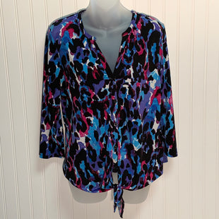 Primary Photo - BRAND: DANA BUCHMAN STYLE: TOP LONG SLEEVE COLOR: MULTI SIZE: L OTHER INFO: TIE FRONT SKU: 239-23918-36652