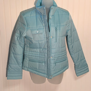 Primary Photo - BRAND: LIZ CLAIBORNE STYLE: JACKET OUTDOOR COLOR: TURQUOISE SIZE: S SKU: 239-23918-36649