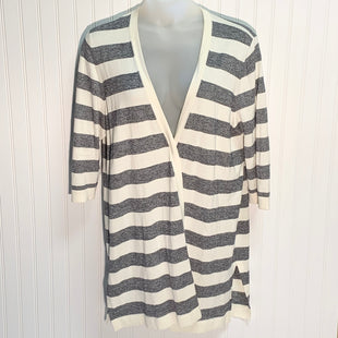 Primary Photo - BRAND: TALBOTS STYLE: SWEATER CARDIGAN LIGHTWEIGHT COLOR: BLUE WHITE SIZE: 2X SKU: 239-23911-71941