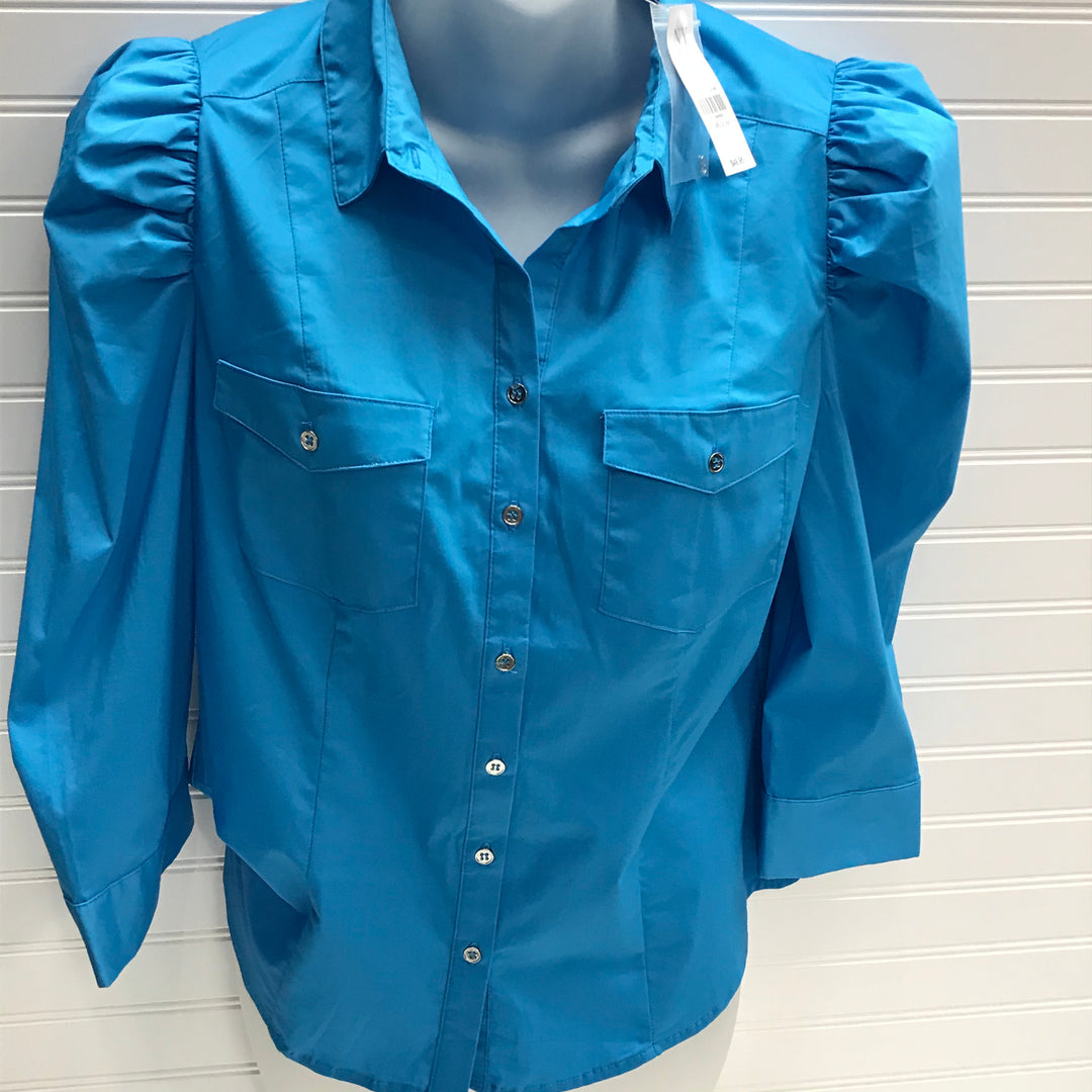 Primary Photo - BRAND: NEW YORK AND CO <BR>STYLE: TOP LONG SLEEVE <BR>COLOR: TURQUOISE <BR>SIZE: M <BR>SKU: 239-23911-73070
