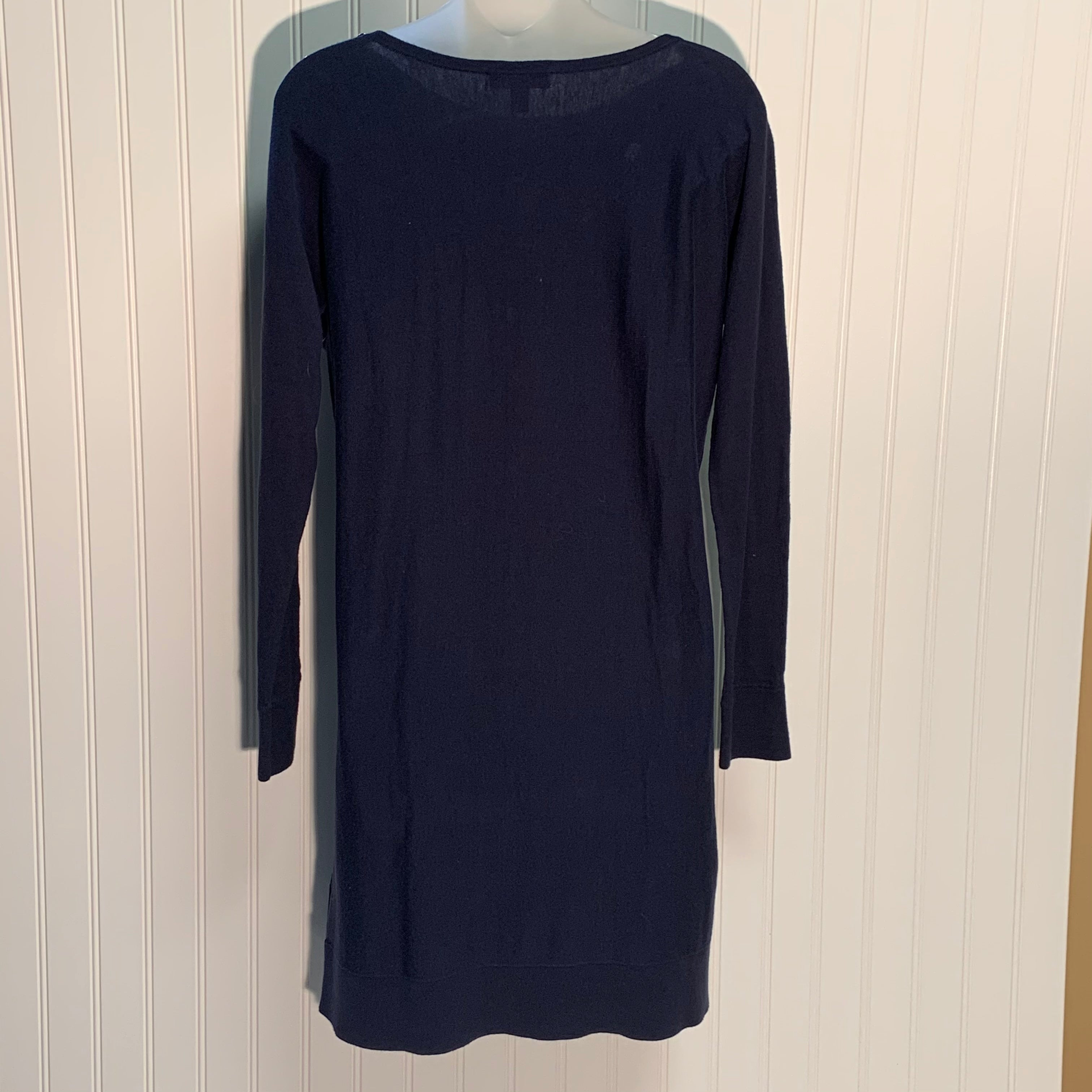 Photo #1 - BRAND: LILLY PULITZER <BR>STYLE: DRESS SHORT LONG SLEEVE <BR>COLOR: NAVY <BR>SIZE: S <BR>SKU: 239-23911-71627