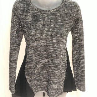 Primary Photo - BRAND: LUCKY BRAND STYLE: TOP LONG SLEEVE COLOR: BLACK WHITE SIZE: S SKU: 239-23918-36250SHEER PANELS AND BACK