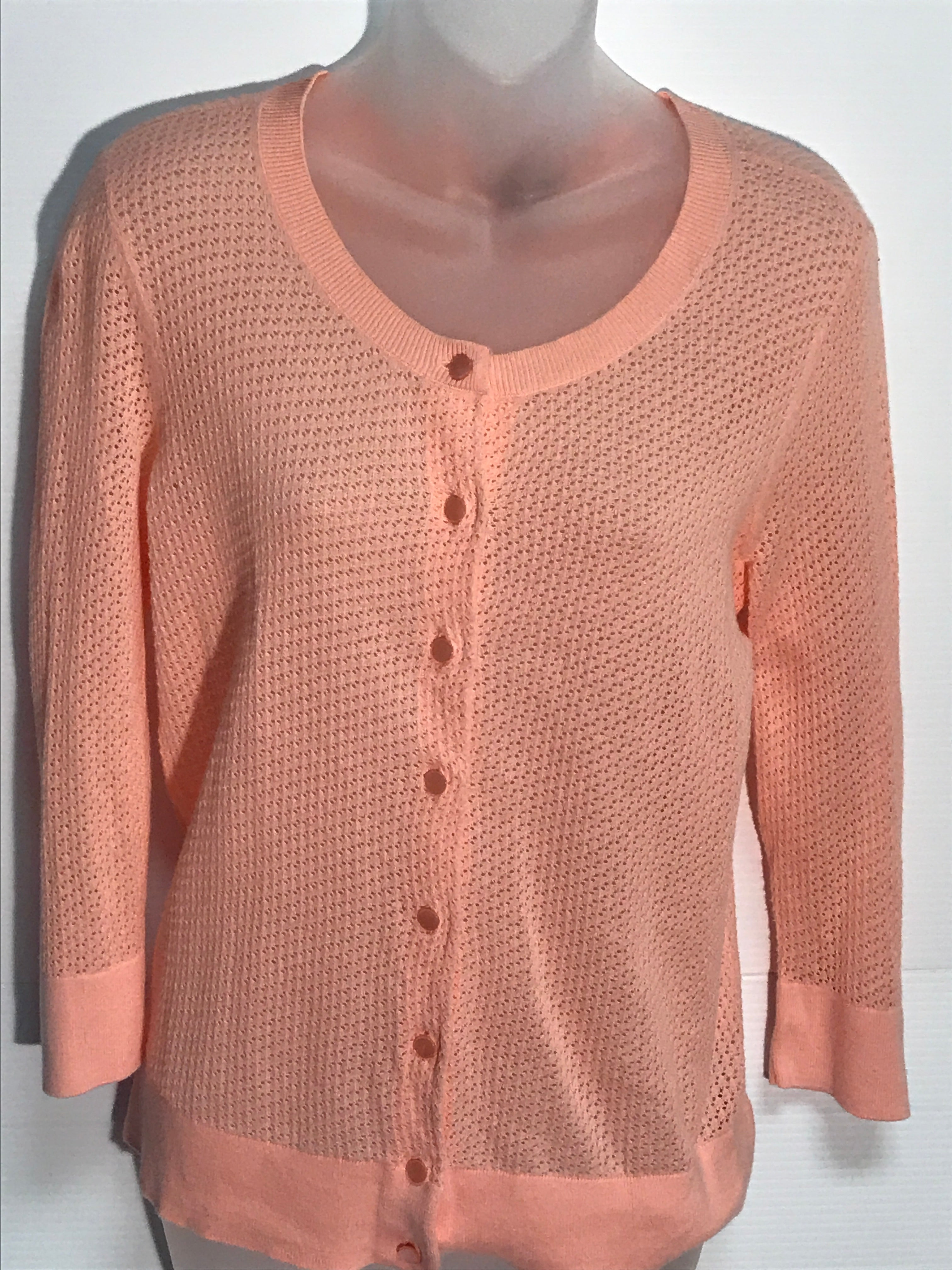 Primary Photo - BRAND: TALBOTS<BR>STYLE: SWEATER CARDIGAN LIGHTWEIGHT<BR>COLOR: PEACH<BR>SIZE: S<BR>SKU: 239-23911-54754