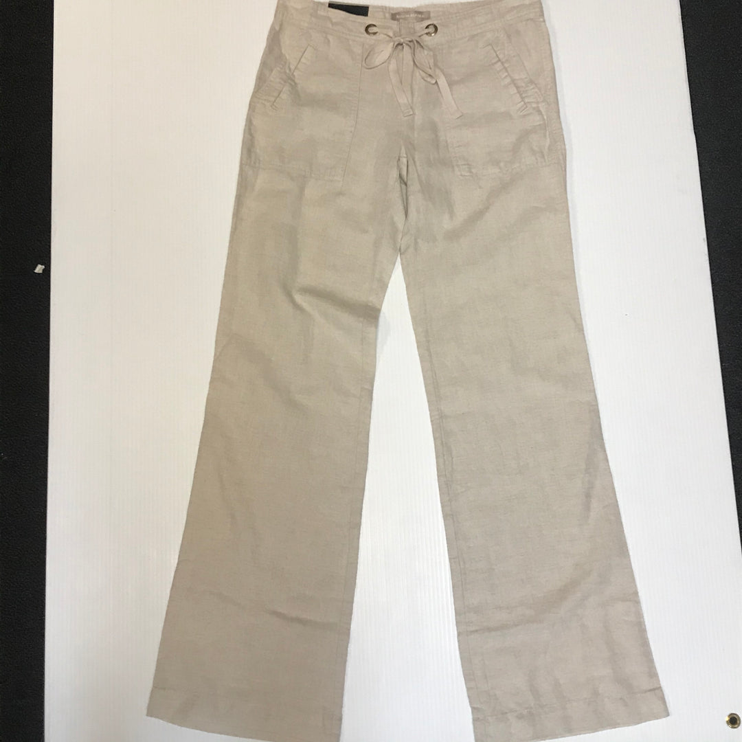 Primary Photo - BRAND: BANANA REPUBLIC<BR>STYLE: PANTS<BR>COLOR: BEIGE<BR>SIZE: 2<BR>OTHER INFO: NEW!<BR>SKU: 239-23911-66011<BR>LINEN MARTIN FIT