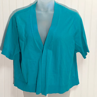 Primary Photo - BRAND: CROFT AND BARROW STYLE: SWEATER CARDIGAN LIGHTWEIGHT COLOR: TEAL SIZE: 3X OTHER INFO: NEW! SHORT SLEEVE SKU: 239-23911-71479