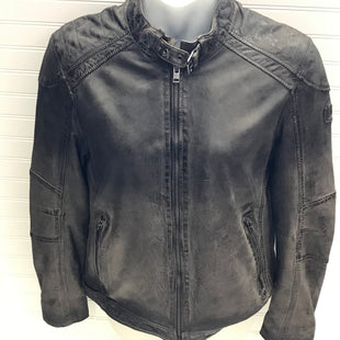 Primary Photo - BRAND:   MAURITIUSSTYLE: JACKET LEATHER COLOR: GREY SIZE: L OTHER INFO: LEATHER MOTO JACKET - DISTRESSED SKU: 239-23918-38868