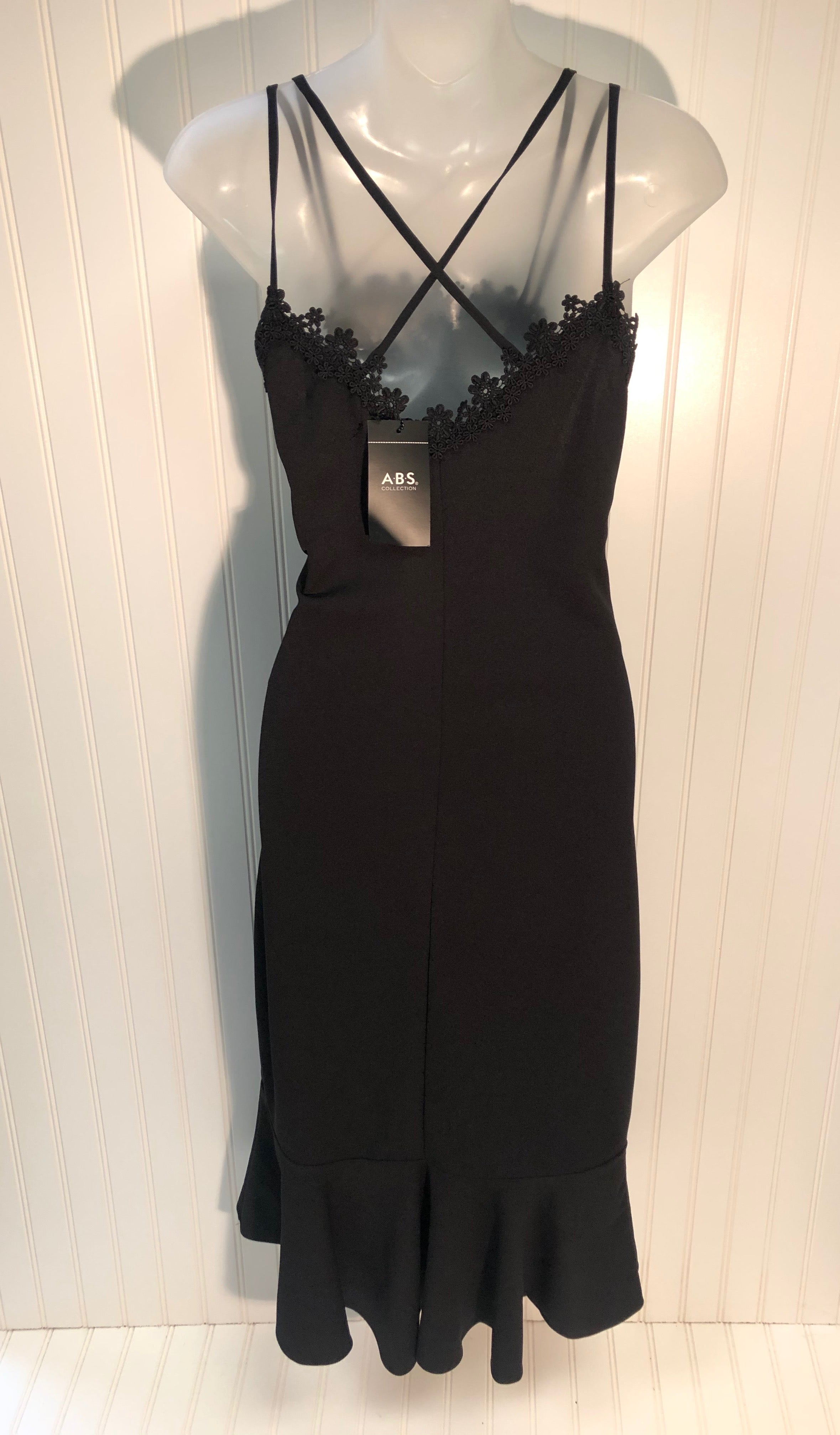Photo #1 - BRAND: ABS <BR>STYLE: DRESS SHORT SLEEVELESS <BR>COLOR: BLACK <BR>SIZE: 10<BR>SKU: 239-23911-68510